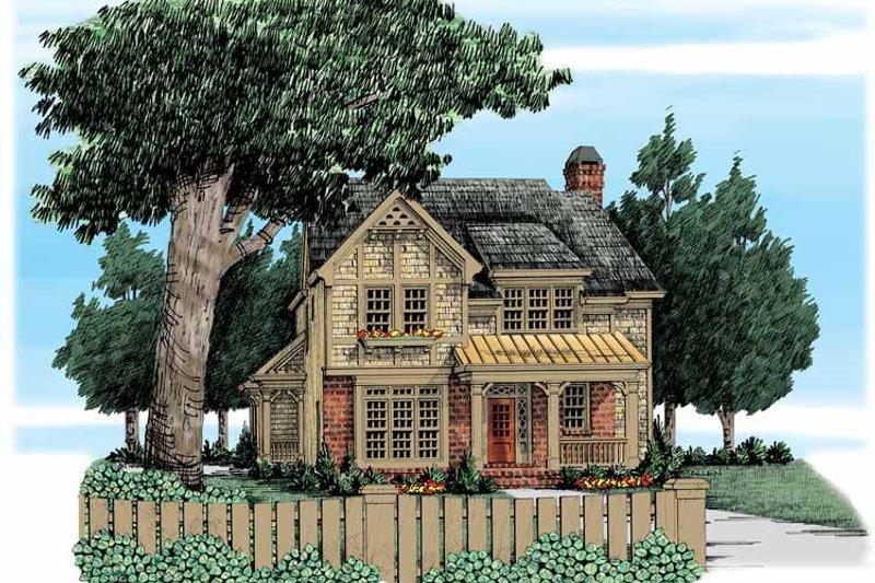 European Exterior - Front Elevation Plan #927-320 - Houseplans.com