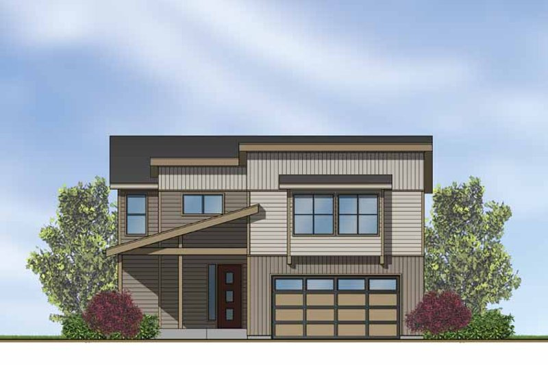 Contemporary Exterior - Front Elevation Plan #569-15 - Houseplans.com