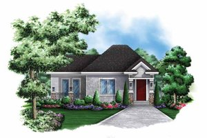 Craftsman Exterior - Front Elevation Plan #1017-137