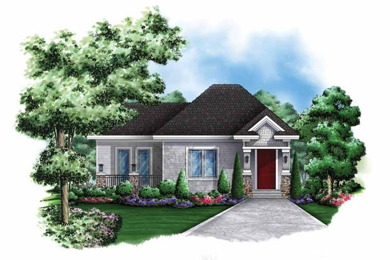 Architectural House Design - Craftsman Exterior - Front Elevation Plan #1017-137