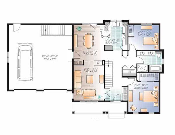Country Floor Plan - Main Floor Plan Plan #23-2533