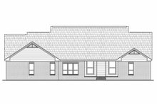 Home Plan - Traditional Exterior - Rear Elevation Plan #21-285