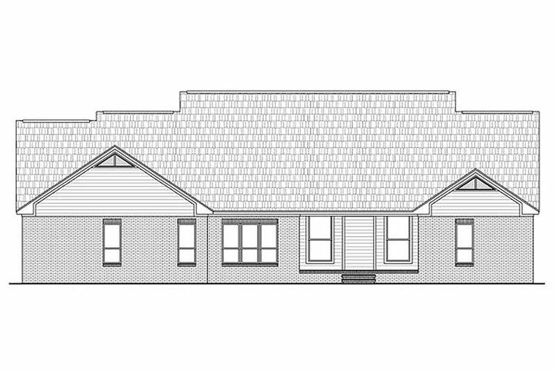 Traditional Exterior - Rear Elevation Plan #21-285 - Houseplans.com