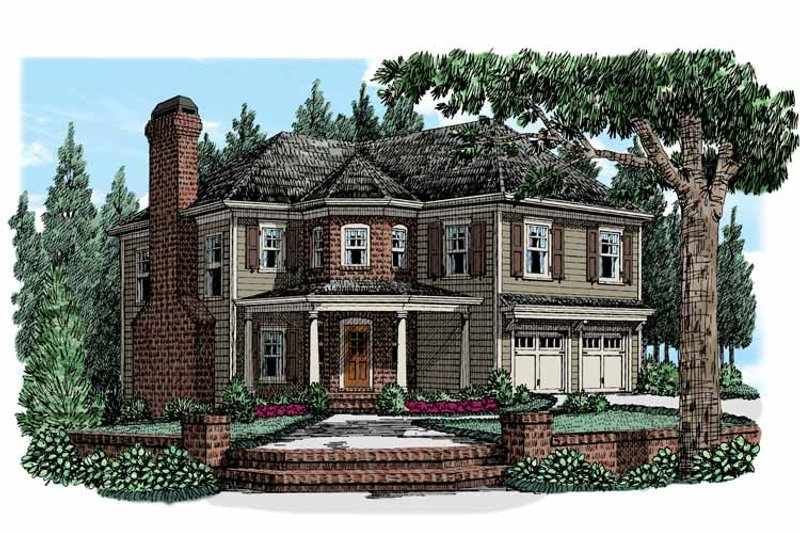 Country Exterior - Front Elevation Plan #927-947 - Houseplans.com