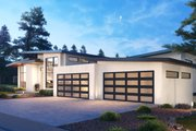 Contemporary Style House Plan - 5 Beds 5 Baths 6080 Sq/Ft Plan #1066-112 Exterior - Front Elevation