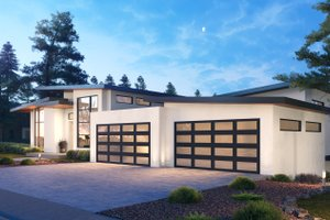 Dream House Plan - Contemporary Exterior - Front Elevation Plan #1066-112