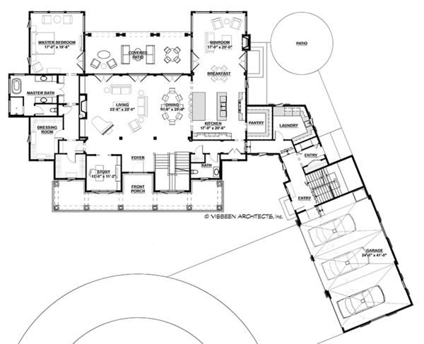 Country Floor Plan - Main Floor Plan #928-285