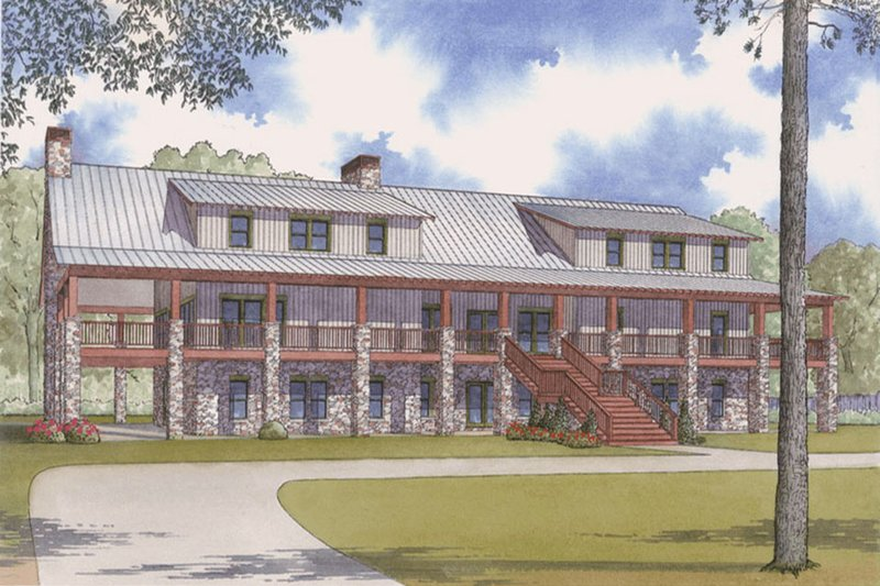 Home Plan - Country Exterior - Front Elevation Plan #923-47