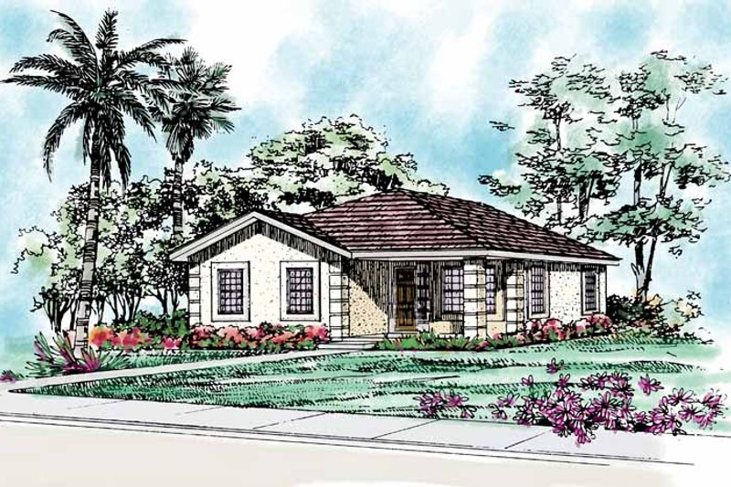 Craftsman Exterior - Front Elevation Plan #72-1038