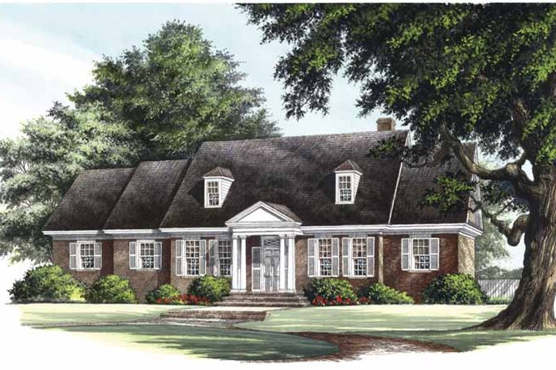 Colonial Exterior - Front Elevation Plan #137-306