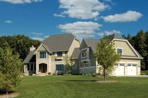 House Blueprint - European Exterior - Front Elevation Plan #928-102