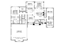 European Floor Plan - Main Floor Plan Plan #929-921