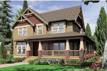 Country Exterior - Front Elevation Plan #48-139