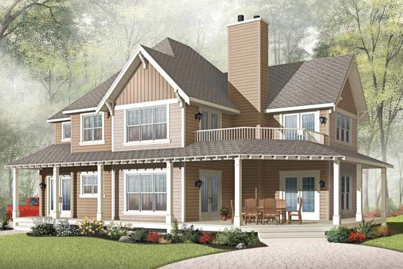Traditional Exterior - Front Elevation Plan #23-2510 - Houseplans.com