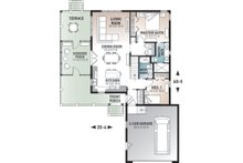European Floor Plan - Main Floor Plan Plan #23-2489