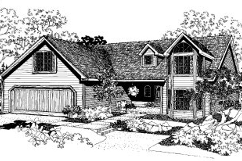 House Plan - 4 Beds 2.5 Baths 1907 Sq/Ft Plan #303-111 Exterior - Front Elevation