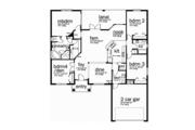 Mediterranean Style House Plan - 4 Beds 2 Baths 2013 Sq/Ft Plan #1058-76