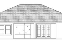 House Plan Design - Mediterranean Exterior - Rear Elevation Plan #1058-126