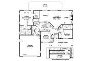 Ranch Style House Plan - 3 Beds 2 Baths 1884 Sq/Ft Plan #124-862 Floor Plan - Main Floor