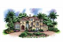 Home Plan - Mediterranean Exterior - Front Elevation Plan #1017-155