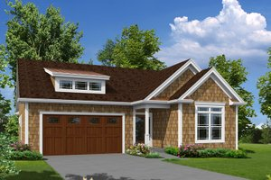 Cottage Exterior - Front Elevation Plan #57-625