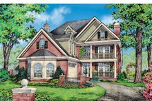 Dream House Plan - Colonial Exterior - Front Elevation Plan #929-852