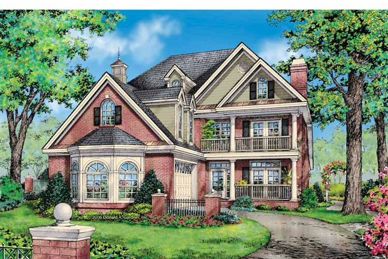 Colonial Exterior - Front Elevation Plan #929-852 - Houseplans.com
