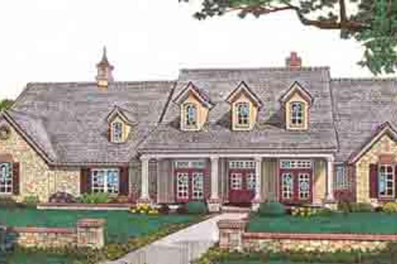 Country Style House Plan - 4 Beds 4.5 Baths 4002 Sq/Ft Plan #310-555