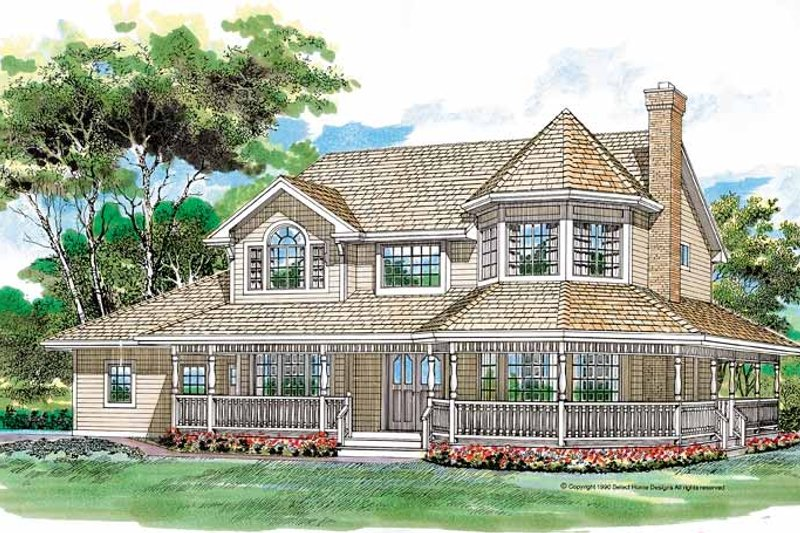 Architectural House Design - Victorian Exterior - Front Elevation Plan #47-852