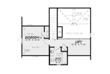 Craftsman Floor Plan - Upper Floor Plan Plan #17-3370