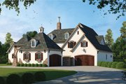 European Style House Plan - 4 Beds 4.5 Baths 4629 Sq/Ft Plan #20-1731 Exterior - Front Elevation