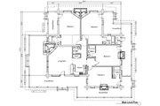 Log Style House Plan - 4 Beds 4.5 Baths 2620 Sq/Ft Plan #451-6 Floor Plan - Main Floor Plan