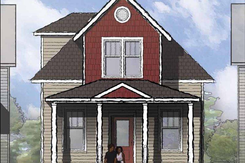 Architectural House Design - Craftsman Exterior - Front Elevation Plan #936-12