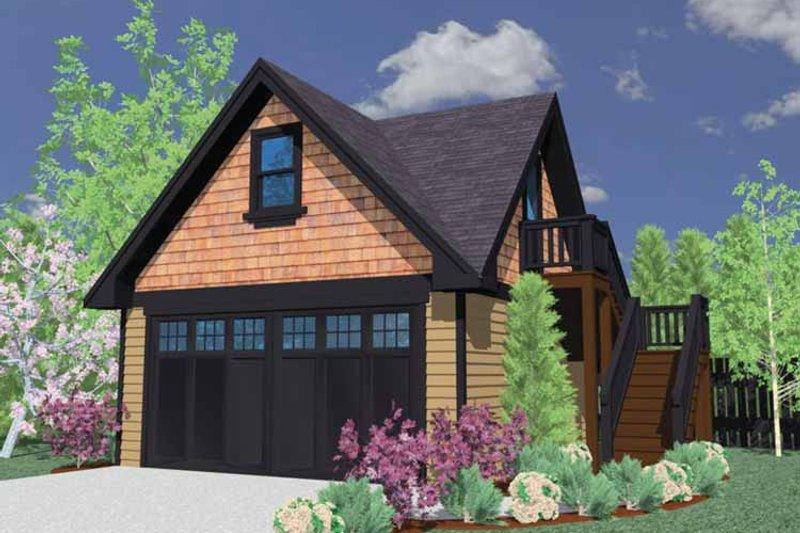Craftsman Exterior - Front Elevation Plan #509-387 - Houseplans.com