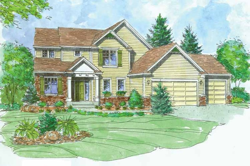 Craftsman Exterior - Front Elevation Plan #320-1004