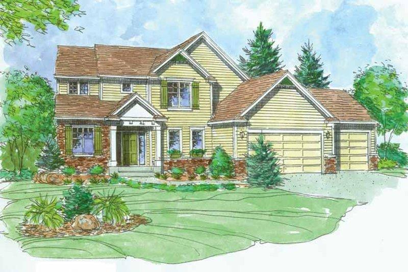 Craftsman Exterior - Front Elevation Plan #320-1004