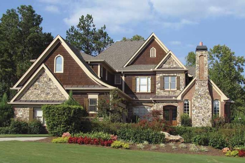 Craftsman Exterior - Front Elevation Plan #54-285