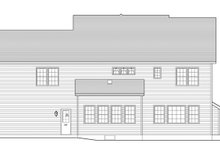 Colonial Exterior - Rear Elevation Plan #1010-92