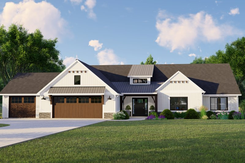 House Plan Design - Farmhouse Exterior - Front Elevation Plan #1064-115