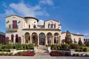 Mediterranean Exterior - Front Elevation Plan #1058-1