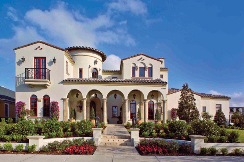 Architectural House Design - Mediterranean Exterior - Front Elevation Plan #1058-1