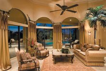 Mediterranean Interior - Family Room Plan #930-328