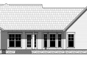 Craftsman Style House Plan - 3 Beds 2 Baths 1619 Sq/Ft Plan #21-398 Exterior - Rear Elevation