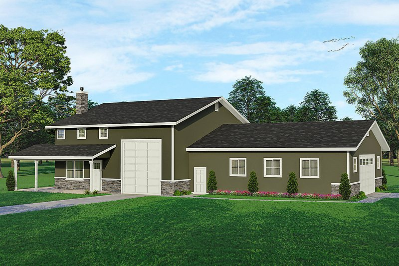 House Plan Design - Traditional Exterior - Front Elevation Plan #124-1262