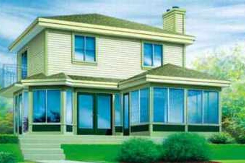 Modern Style House Plan - 3 Beds 2 Baths 1320 Sq/Ft Plan #25-2295 Exterior - Front Elevation