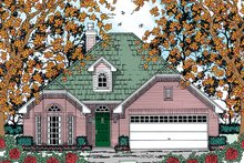 Traditional Exterior - Front Elevation Plan #42-721