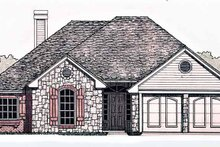 Country Exterior - Front Elevation Plan #310-1226