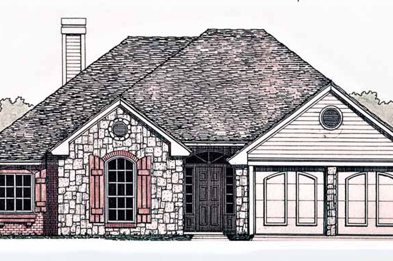Dream House Plan - Country Exterior - Front Elevation Plan #310-1226