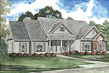 Country Exterior - Front Elevation Plan #17-3020