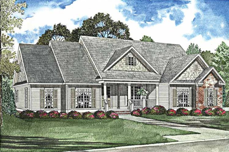 House Plan Design - Country Exterior - Front Elevation Plan #17-3020